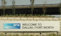 DFW covers 17,207 acres—an area bigger than Manhattan. It is the third largest airport in the U.S. (operations).