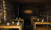 In the recreated dugout, visitors can feel what it was like to be a soldier in WWII and even eat a soldier's meal.