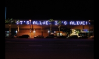 Drive By is an LED installation by Electroland that nods to Los Angeles' obsession with cars and movies.