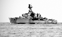 """The inspiration was the WWI ship camouflage technique known as """"Dazzle Painting""""."""
