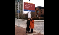 With Leslie Gallery Dilworth, who hired her to create Directional Philadelphia. The two were friends for 42 years.