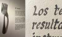 """Del Objeto Del Objeto Design Museum: The current exhibition """"Del Plato a la Boca"""" hand painted text."""