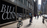 Exterior windows, Water Street. At the new Experience the Times of Bill Cunningham, visitors will transport themselves into the vibrant world of famed street photographer Bill Cunningham. Photo credit: Sean Airhart/NBBJ
