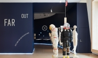 Far Out: Suits, Habs, and Labs for Outer Space celebrated visionary ideas and ingenious solutions from architects, artists, and designers who dared to imagine life far out among the stars.