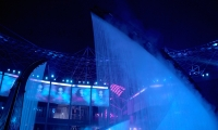 Over 120 lighting elements and projectors transform the space during the shows.