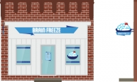 Fig. 13. Design for invented business Brain Freeze (Lauren Juenger)