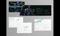 Poulin + Morris extended the graphics to collateral for the company's 2015 benefit.