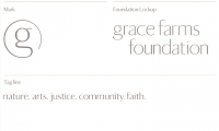 """The Grace Farms mark functions as and resembles a """"@"""" symbol, emphasizing the social aspects of the organization."""