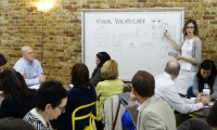 Teaching is a key component of the Greater Good ethos. Here, Sara Cantor Aye leads a Chicago Ideas Week lab on how to brainstorm and prototype ideas using visual language.