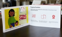 Working with the Donnell Kay Foundation to provide early childhood education resources to immigrant families in Colorado, Greater Good Studio created a book that illustrates strategies to empower caregivers.