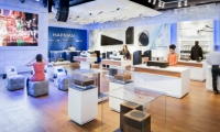 Gensler designed Harman's first audio flagship in North America, an 8,000-sq.-ft. space on Madison Avenue in New York.