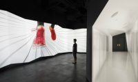 The sensory-challenging space was designed to transcend cultural and language barriers and translate the brand into pure sight, sound, and form.