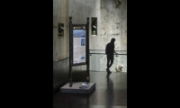 The Heritage Trails kiosk at WTC Plaza was one of just a few elements that survived the 9/11 attacks largely unscathed. Today the donated kiosk is a centerpiece display in the museum.