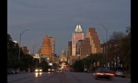 The Austin skyline from South Congress Avenue.