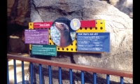 High-Pressure Laminate for Signage (1990s). Zoos, museums, and parks have never been the same since the introduction of an image-rich, robust-enough-for-outdoors, and less costly alternative to porcelain enamel. (Photo: iZone Imaging)