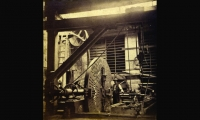 Historical image of the original Boring Mill, which powered lathes and rifling machines on multiple floors. (Photo: Putnam History Museum)