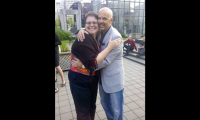 Ann is well-known for her excellent hugs (with Michael Martinez)
