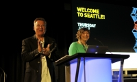 Our Seattle Chapter and Conference Chairs: Annelle Stotz and Russ Roberts!