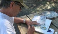 Sketching on an Oregon hiking trip