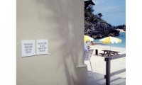 Site signage and wayfinding at the Sonesta Beach Resort, Bermuda