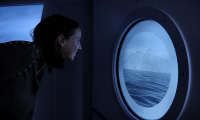 ...where they can look out over a simulated vista of the ship's bow traveling through sub-Antarctic island passages.