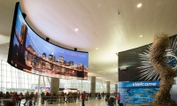 Project: JFK Terminal 4 Arrivals  |  Designed, fabricated and photo by NanoLumens, installed by CRI