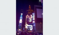2012 SEGD Conference on the big screen in Times Square with Cynthia Damar-Schnobb