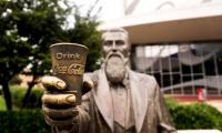 Statue of John Pemberton, whose recipe for a patent medicine became Cola-Cola.