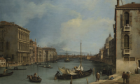Canaletto. The Grand Canal from the Campo San Vio, c. 1730-35, oil on canvas, 114 x 161.3 cm (44-3/8 x 63-3/8 in), Samuel H. Kress Collection, Memphis Brooks Museum of Art, accessed January 06, 2021, https://www.kressfoundation.org/kress-collection/artwor