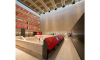 The LBJ Presidential Library has wonderful architectural features like the central archive that creates a large wall.
