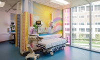 Lexington | Shriners Hospitals for Children Medical Center. –  Digitally printed wallcovering. Design direction by Designtex.