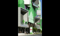 "The new building near downtown Brisbane was designed as a ""living tree"" with elements to support patient health and wellbeing."