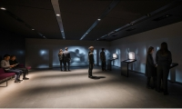 Interactive stations are set against a backdrop of dramatic animations with evocative audio narration that tells the story of the Mithras cult.