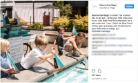 Instagram post featuring the children's boat fountain (courtesy of Lido Marina Village)