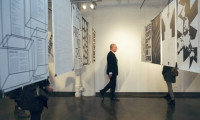 A retrospective of Michael Bierut's 35-year career runs through Nov. 7 at the School of Visual Arts' SVA Chelsea Gallery. (Photo: Federico Rodriguez Caldentey)