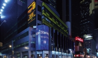 In 1995, Poulin + Morris added to the spectacle on Times Square by designing one of the first architectural integrations of LED technology.