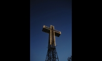 Montreal's iconic Mount Royal Cross has perched atop Mount Royal Park overlooking the east end of the city since 1924. Its lighting has changed over the years from the original incandescent bulbs to fiberoptics and now LEDs installed in 2009, but it remains a beacon of the city's urban landscape. (Photo: Philippe Lamarre)