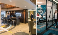 PayPal's suburban office in Timonium, Md., brings the energy of Baltimore into the workspace with local flavor and custom artist murals, providing a culture to better attract and maintain talent outside the city.