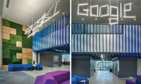 Environmental graphics help visually evolve the Google brand.