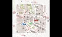 Detail of Pedestrian Orientation Map for Okhotny Riad Metro Station
