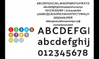 Detail of Moscow Sans specimen showing terminals on Latin characters