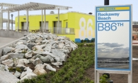 In the wake of Hurricane Sandy, Pentagram Partner Paula Scher created new signage and wayfinding for 14 miles of devastated beachfront.