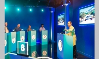 In the Game Show, the participants are guided to answer (via a tablet) a series of moral dilemmas and the answers are then reported, tallied and analyzed in real time.
