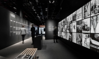 The light boxes and the computer kiosk offer the opportunity to explore the lives behind the faces, and to uncover the details captured in each portrait.