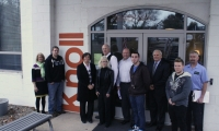 Local furniture maker Knoll donated space, time and materials to the student prototyping effort.