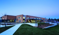 """Discovery Elementary is the first elementary school built in Arlington County in over a decade, and is a """"net zero"""" energy building. (Photo: Lincoln Barbour)"""