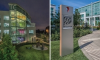M-O created a wayfinding and graphics program for Google's new Tech Corners campus in Sunnyvale, Calif.