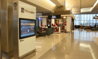 SFO recently installed new touchscreen wayfinding kiosks to supplement static wayfinding signs.
