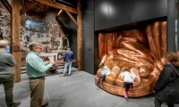 In Constructing Liberty, working models of the Statue's foot as it evolves from plaster to copper and period tools that demonstrate the techniques described in the exhibit offer tactile impressions of the construction process. (Keena Photo)