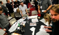 SEGD attendees brought a design element to the Digital Signage Expo 2015 vendor show floor.